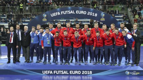 Матч за 3-е место, UEFA Futsal EURO 2018. Арена Стожице, Любляна, Словения. 11/02/2018. (Фото: Михаил Шапаев © Российский Футбольный Союз)